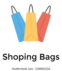 Shopping bag flat vector icon
