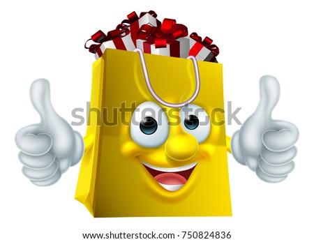 Shopping Bag Full Christmas Birthday Gift Stock Vector Royalty Free