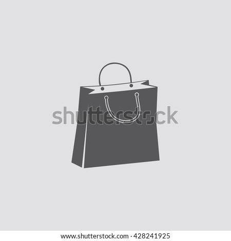 Shopping Bag Icon Stock Vektorgrafik Lizenzfrei 428241925