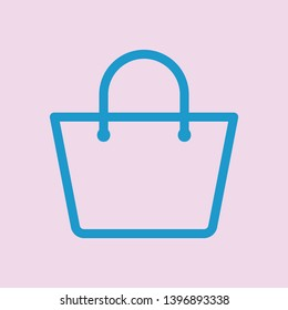Shopping bag icon. accessories women