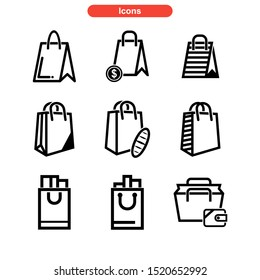 shopping bag icon isolated sign symbol vector illustration - Collection of high quality black style vector icons