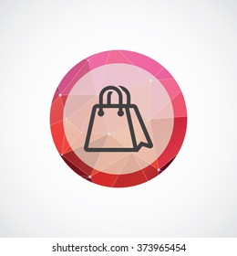 shopping bag icon, on white background