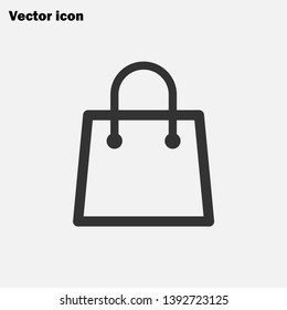 Shopping bag icon  package sign