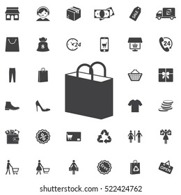 shopping bag icon. Universal Shop set of icons for web and mobile
