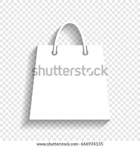 Shopping Bag Illustration Vector White Icon Stock Vektorgrafik