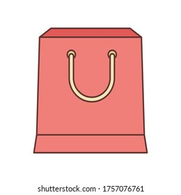 shopping bag  isolate  on white background. Flat style object.simple design.