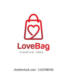 Shopping Bag Logo Design Template