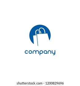 Logo der Einkaufstasche. Logo des Online-Shops.