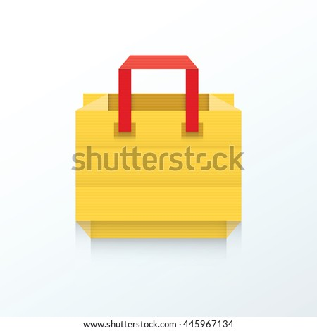 Shopping Bag Origami Icon Stock Vector Royalty Free 445967134
