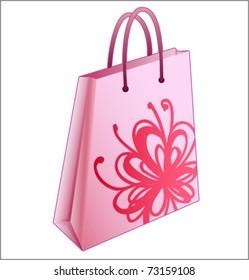 Shopping bag pink vector illustration
