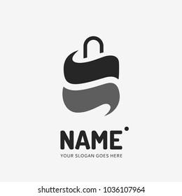 Shopping bag. Vector logo design. Business concept icon.