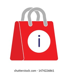 shopping bag warn icon. flat illustration of shopping bag warn vector icon. shopping bag warn sign symbol