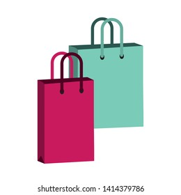 shopping bags commerce pop art vector illustration