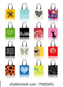 Shopping bags set for your design