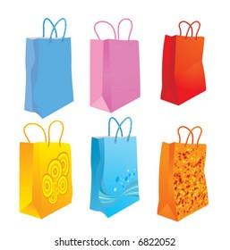 Shopping bags. Vector illustration.