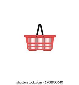 Shopping basket flat illustration design.