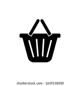 Shopping Basket Icon. E Commerce Element's Sign. Trading Online Symbol.