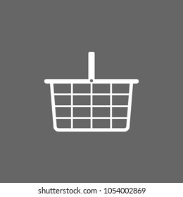 Shopping basket icon. Flat design. Vector illustration.