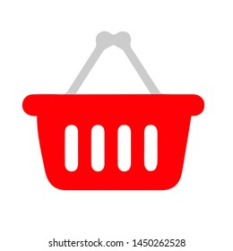 shopping basket icon. Logo element illustration. shopping basket symbol design. colored collection. shopping basket concept. Can be used in web and mobile