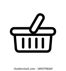 shopping basket icon or logo isolated sign symbol vector illustration - high quality black style vector icons
