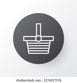 Shopping basket icon symbol. Premium quality isolated pannier element in trendy style.