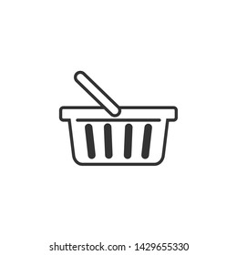 Shopping Basket icon template black color editable. Shopping Basket symbol Flat vector sign isolated on white background. Simple vector illustration for graphic and web design.