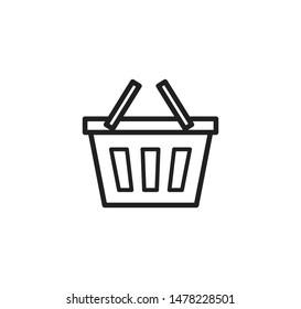 Shopping basket icon vector ,commerce vector illustration
