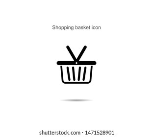 Shopping basket icon vector illustration on background