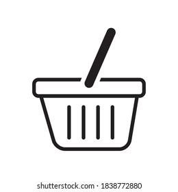 Shopping Basket Icon Vector Illustration Design