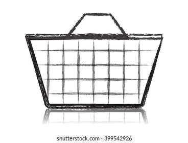Shopping basket icon - vector illustration