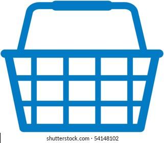 Shopping basket icon - vector illustration