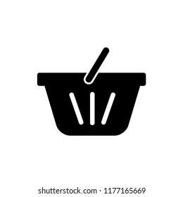 Shopping basket icon vector logo template