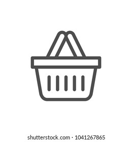 Shopping basket line icon