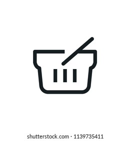 Shopping Basket Modern Simple Outline Vector Icon
