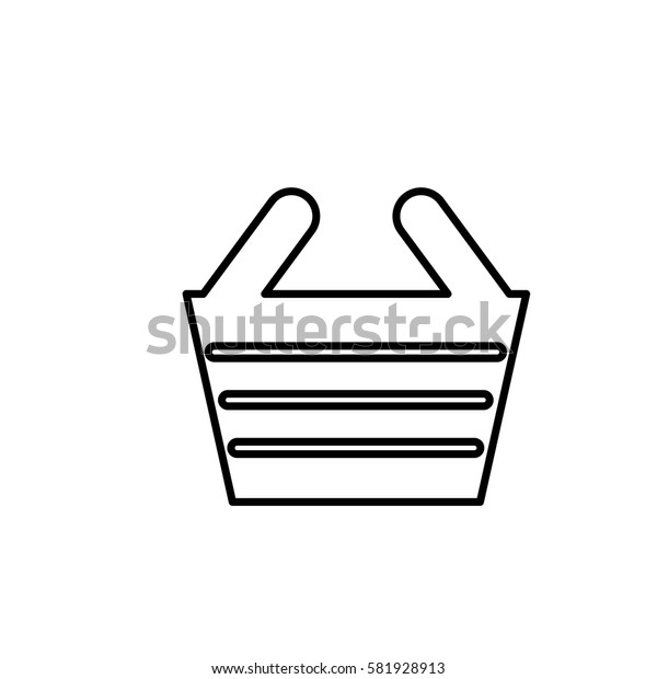 Shopping basket symbol icon vector illustration graphic design