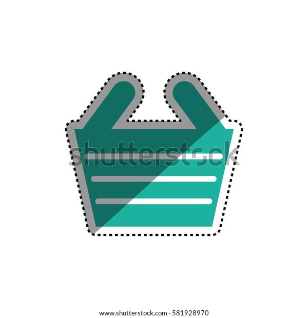 Shopping basket symbol icon vector illustration graphic design