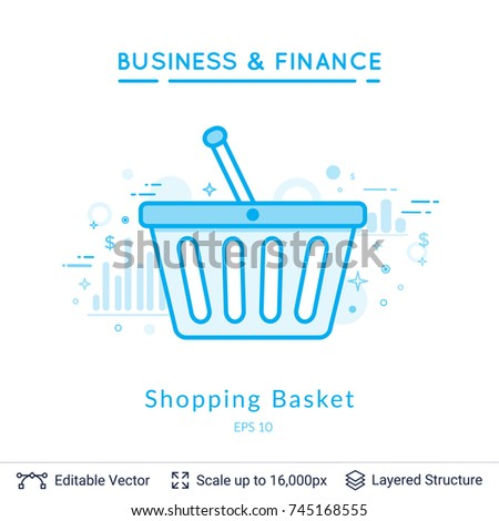 Shopping basket symbol on white simple stock vector royalty free shopping basket symbol on white simple design for business financial topic vector template easy maxwellsz