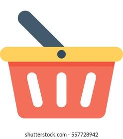Shopping Basket Vector Icon