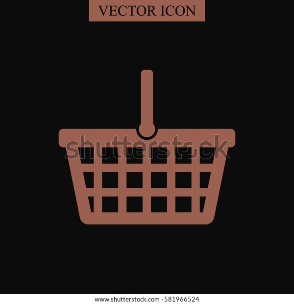 Shopping basket vector icon