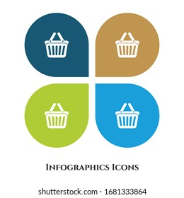Shopping Basket Vector Illustration icon for all purpose. Isolated on 4 different backgrounds.