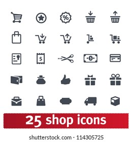 Shopping, business, e-commerce, delivery icons: vector set