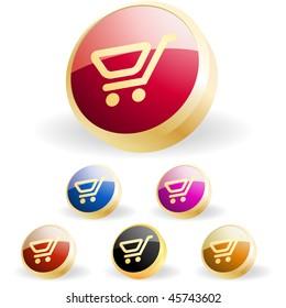 Shopping button. Vector collection.