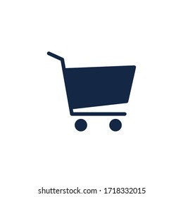Shopping cart, basket flat vector icon, trolley symbol illustration isolated on the white background