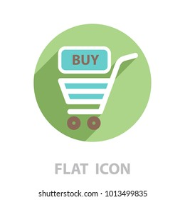 shopping cart (basket) icon. vector illustration