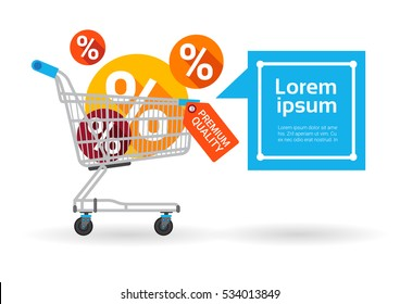 Shopping Cart Big Sale Banner Vector Illustration