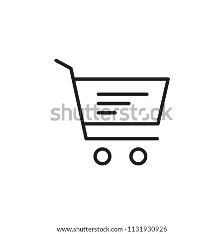 Shopping Cart Buy Shop Market Basket Stock Vector (Royalty Free