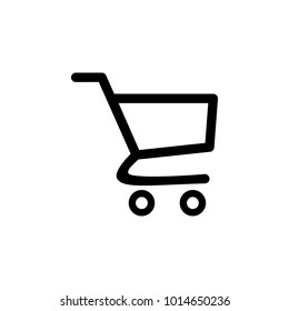 Shopping Cart Icon. Flat design best vector icon