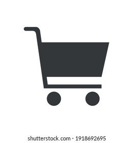 Shopping cart icon for graphic design projects