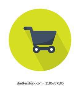 shopping cart icon - shopping cart isolated. online shopping