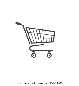 Shopping cart icon isolated vector